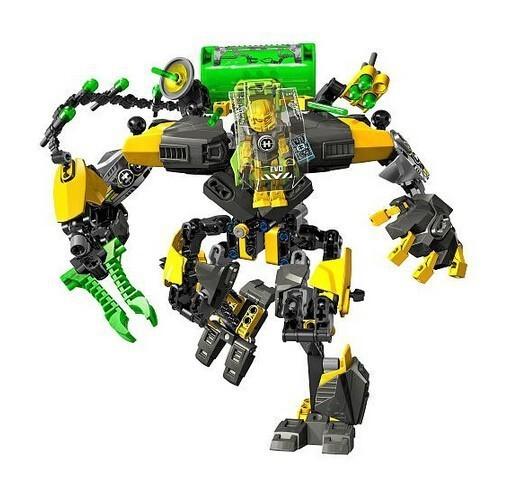 Decool 10489 Hero Factory 6 Estrella Solider Héroe EVO XL MÁQUINA Robot figura de Acción 3D building block sets juguetes para niños