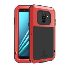 Aluminum Metal Outdoor Sport Shockproof Armor Case For Samsung Galaxy A6 2018 / Plus +Gorilla Glass For Samsung A6 2018 Case A 6 pepk shockproof case gorilla glass for samsung galaxy s4 iv i9500