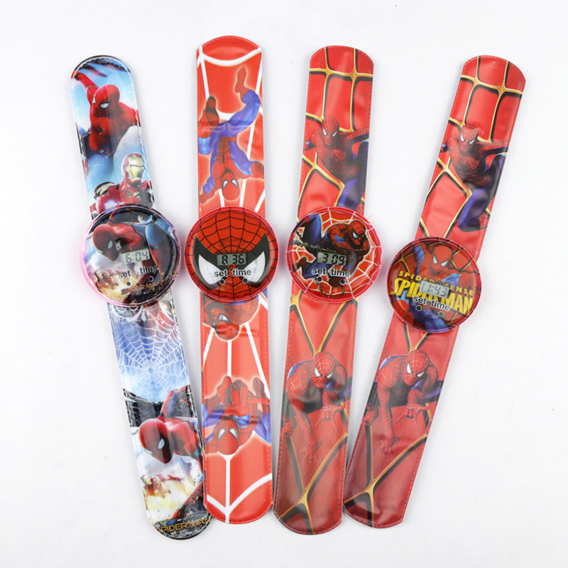 Spiderman Children Watches Boys Cartoon Ben 10 Princess Girls Digital Watch Kids Toy Patted Watch Birthday Gift Electronic Clock