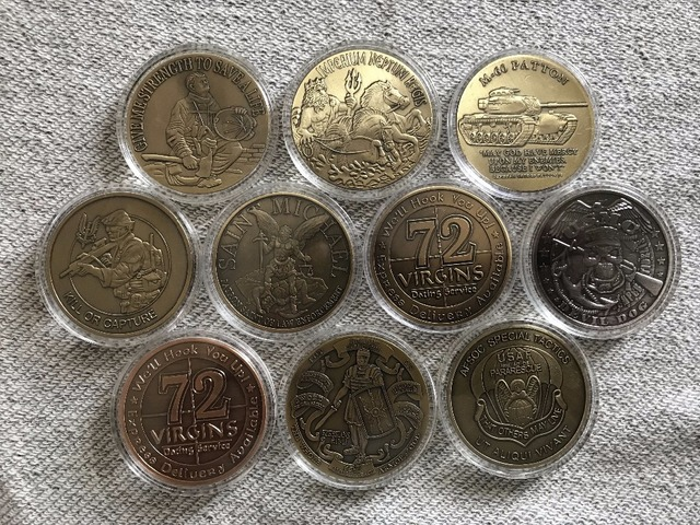 US $25 0 |free shipping ,Tsample Order,10pcs Mix ,U S  Military Coin  ,Ancient Bronze Challenge Coin-in Non-currency Coins from Home & Garden on