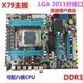 Gratis fondos de envío motherboard nuevo X79 placa base LGA 2011 soporte ECC REG servidor de memoria Todos Los tableros sólidos