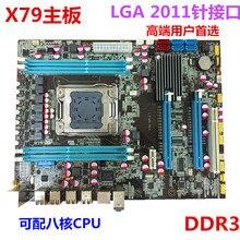 Kostenloser versand desktop-motherboard neue X79 MOTHERBOARD-FREIES LGA 2011 unterstützung REG ECC server speicher Alle festen boards