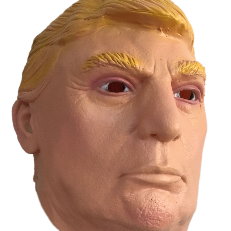 Donald Trump Overhead Latex Mask 2016 US Election Famous Celebrity Trump Masquerade Cosply Costume Full Head Rubber Masks