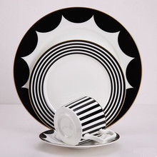 Dinner plates set Bone china dinner Dishes and sets with coffe mug Service Table utensils