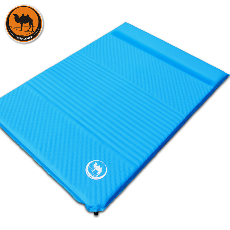 CS033 4 thick 5cm groove wave mattress automatic inflatable cushion outdoor camping inflatable mat large space