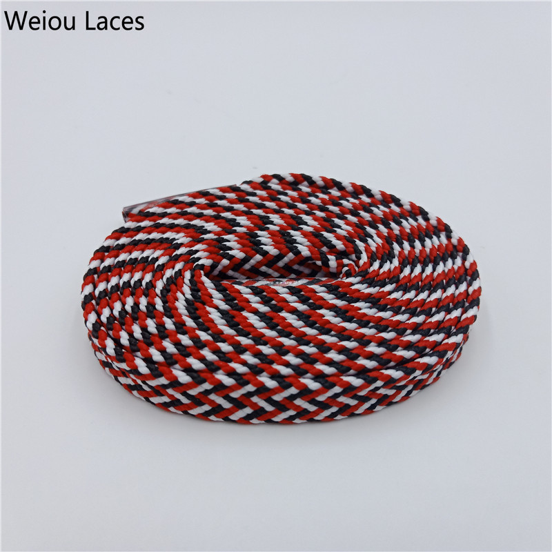 Weiou Premium Chromatic Colour Striped Bootlace Trend Personality Shoelaces For Casual Sneaker Gym Shoes Latchet Drop Shipping