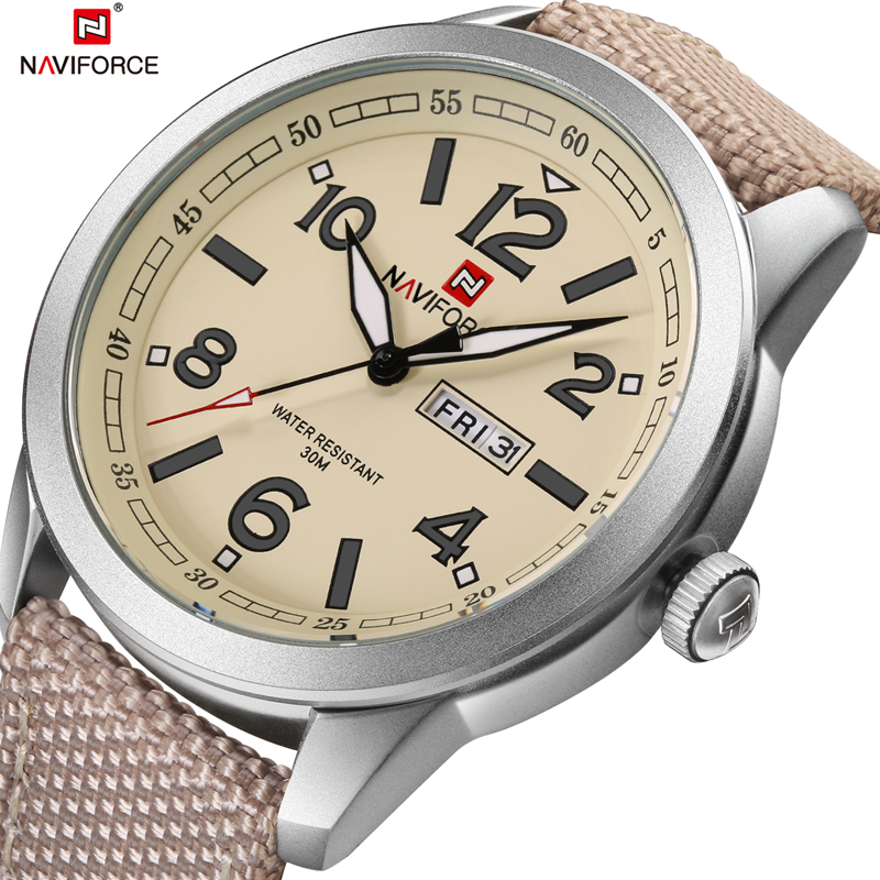 2017 Men Army Military Quartz Sports watches Luxury Brand Mens Calender Nylon Strap Waterproof Wrist watch relogio masculino