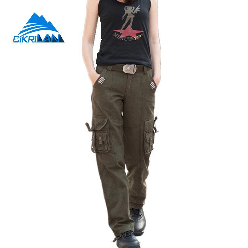 Pantalones Tacticos De Camuflaje Con Multiples Bolsillos Para Mujer Ropa De Combate Senderismo Al Aire Libre Militar Para Acampar Y Escalar Climbing Trousers Outdoor Hikingtactical Pants Women Aliexpress