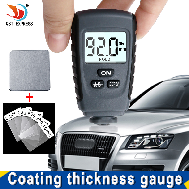 RM660 Digital Paint Coating Thickness Gauges Paint Gauge Thickness Fe NFe 0-1.25mm For Car Iron Aluminum Base Metal