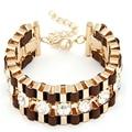 2016 Pulseiras Mujer Fashion Gold Charms Bracelets & Bangles for Women Jewelry Brazaletes Pulseras Crystal Bracelet Femme Bijoux