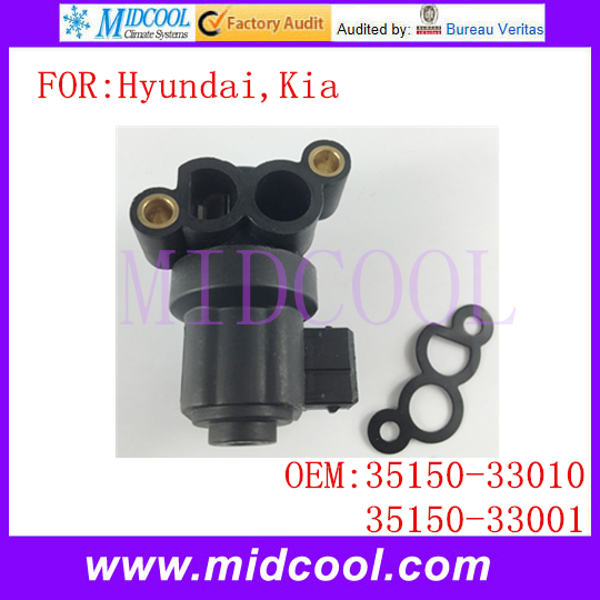 New Auto Idle Air Control Valve use OE NO 35150 33010 35150 33001 for Hyundai Kia