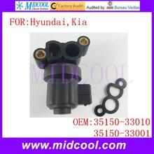 Nuevo Auto Idle Air Control Válvula uso OE NO. 35150-33010, 35150-33001 para Hyundai Kia