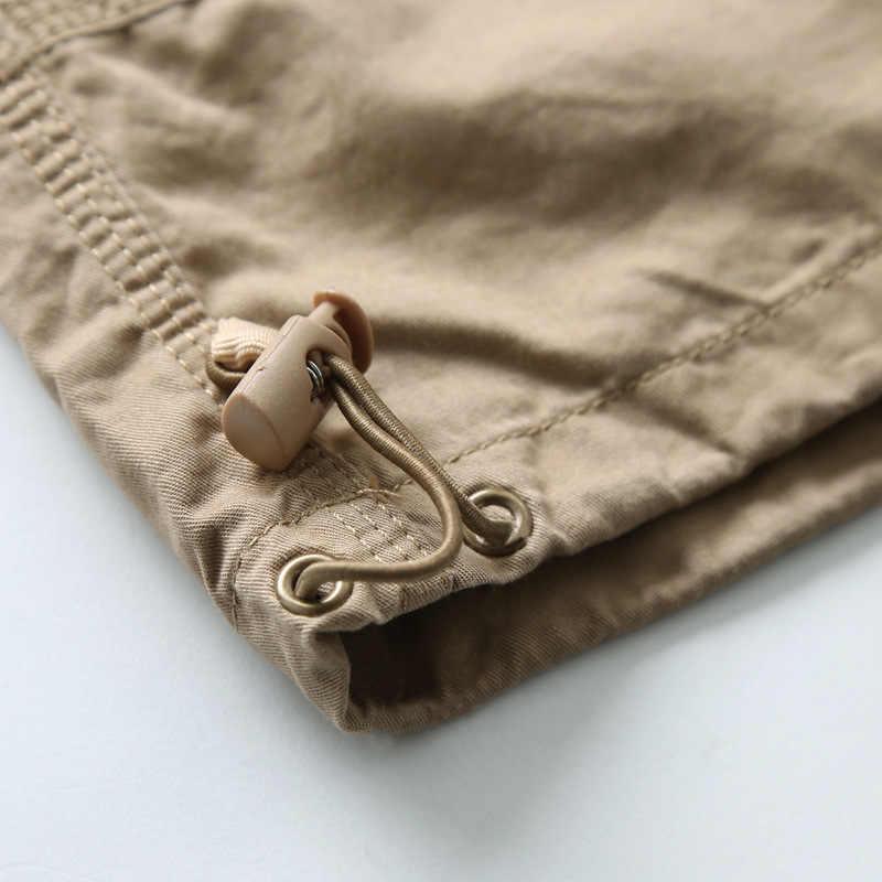 Новые мужские камуфляжные укороченные брюки летние дизайнерские многокарманные Чистый хлопок для мужчин повседневные укороченные брюки мужские брюки больших размеров AF1219