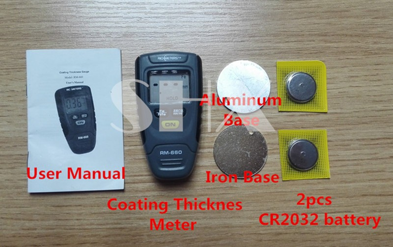 (20~27Day Delivery) Digital LCD car Coating Thickness Gauge Paint Thickness  Meter Instrument Tester 0-1 25MM RM-660