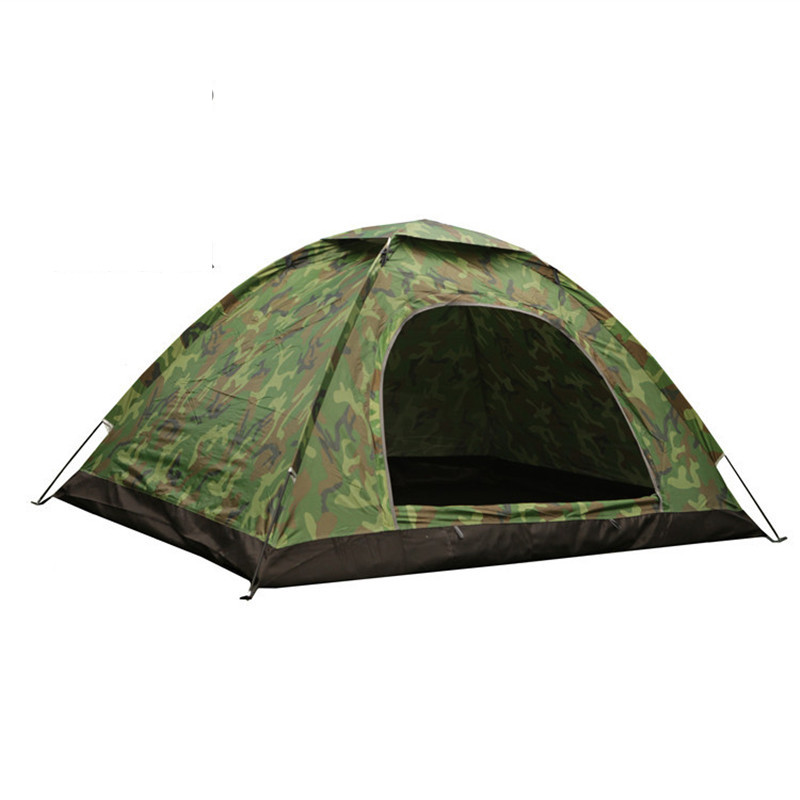 Outdoor Portable Single Layer Camping Tent Camouflage 3-4 Person Waterproof lightweight Beach fishing hunting Tente tentda  outdoor camping tent 3 4 beach tent camping tent single summer mosquito children play tent