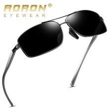 AORON мужские поляризованные солнцезащитные очки, спортивные прямоугольные очки, алюминиевая оправа из магния, UV400, солнцезащитные очки, мужские очки