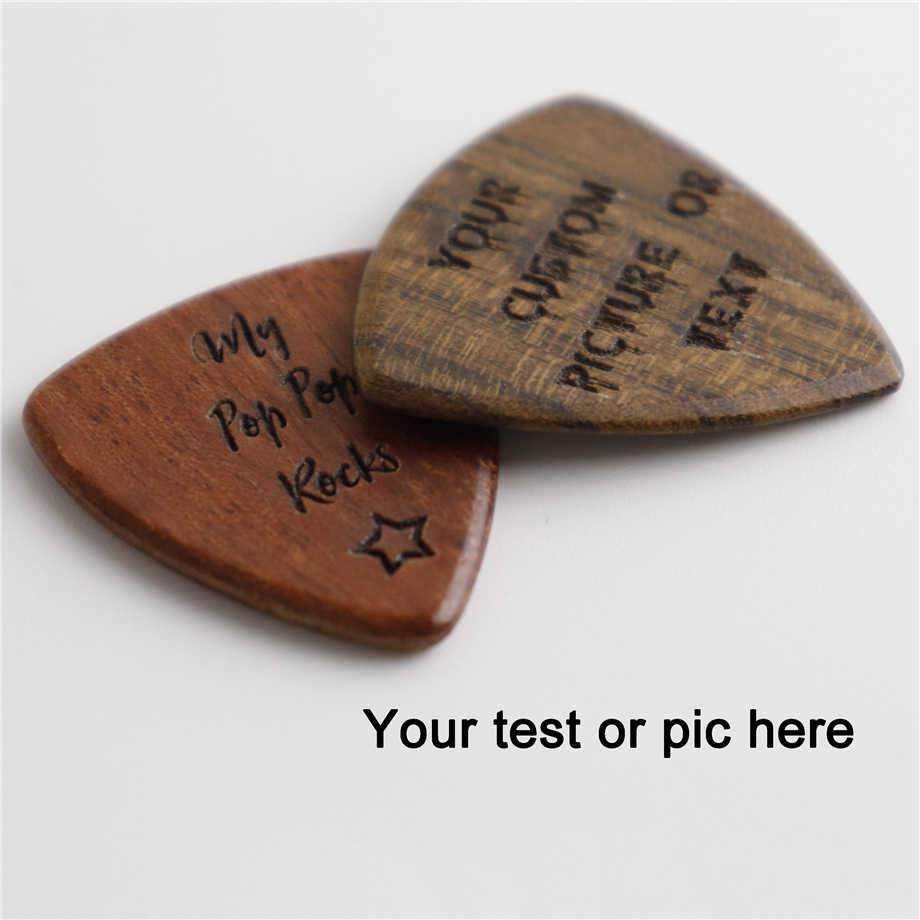 Wood Guitar Pick Acoustic Electric Bass Plectrum Mediator Musical Instrument Guitar Parts & Accessories Customized