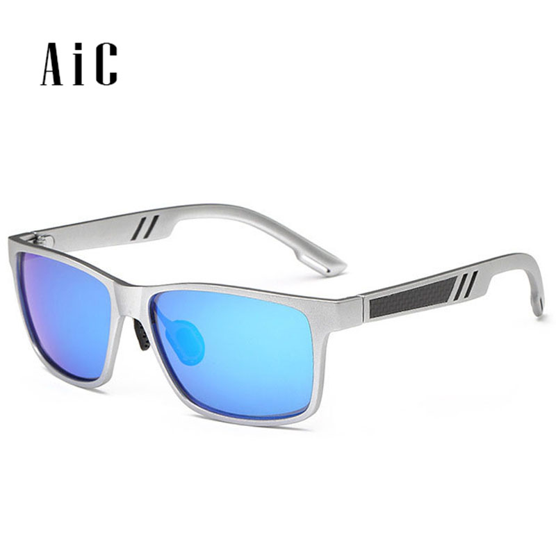 Mens Aluminum Polarized Mens Sunglasses Mirror Sun Glasses Square Goggle Eyewear Accessories For Men Female