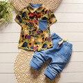 BibiCola мода малышей детей летние мальчики одежда наборы 2 шт. наборы одежды мальчиков джентльмен установить дети спортивный костюм наборы