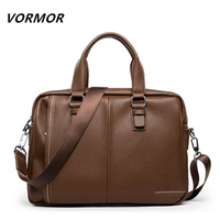 VORMOR Brand Top Sell Fashion Famous Brand Business Men Briefcase Bag Leather Laptop Bag Casual Man Bag Shoulder bags