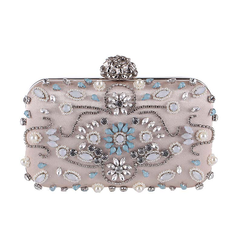 Black/Gold Fashion Diamond Evening Clutch Bag Rhinstone party purse Over the Shoulder Female Crystal Handbag New product the new 2016 limited rivet set auger handbag contracted with diamond crystal diamond bag