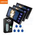 """Toque na Tecla 7 """"LCD Vídeo Porteiro Intercom Campainha Sistema de Interfone campainha Da Porta de Controle de Acesso Por Impressão Digital Kits de Segurança Em Casa"""