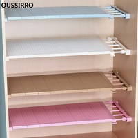 OUSSIRR Wardrobe Storage Split Partition Cabinet nail free Shelf Cabinetry Bathroom Shelves Dormitory Retractable Finishing Rack