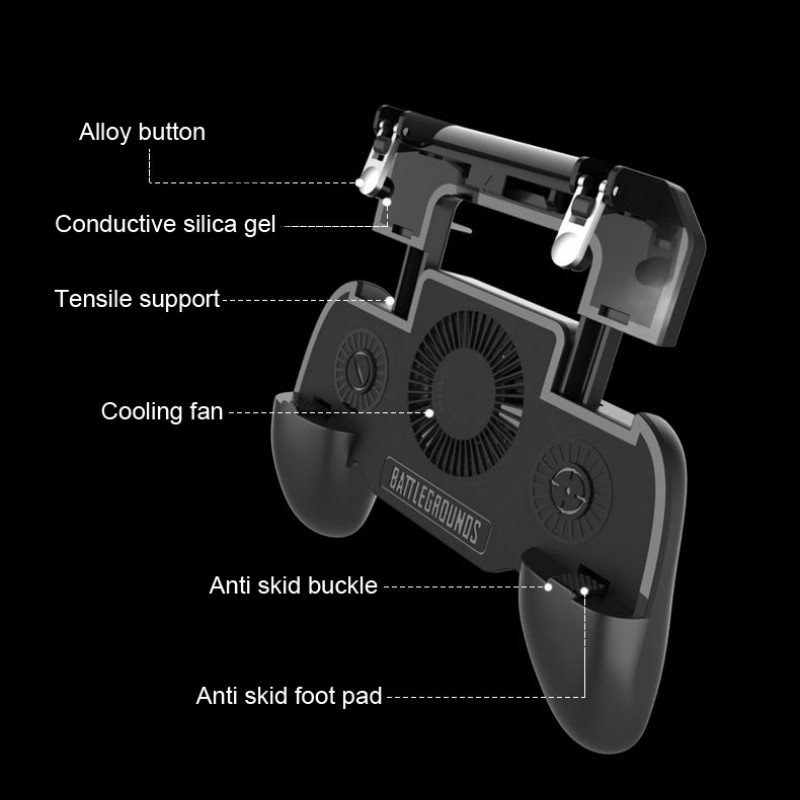 Image 4 - Multi Functional Game Phone Holder For iPhone XS MAX X Samsung S10 S9 Mobile Phone Cooler Heat Sink Cooling Game Controller Hand-in Mobile Phone Coolers from Cellphones & Telecommunications