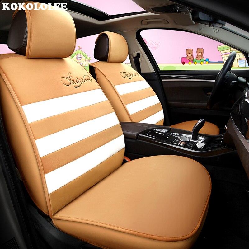 Housses de siège de voiture kokolololee pour hyundai solaris tucson 2017 accessoires d'accent getz i20 creta ix 35 i10 i40 housse de siège d'automobiles