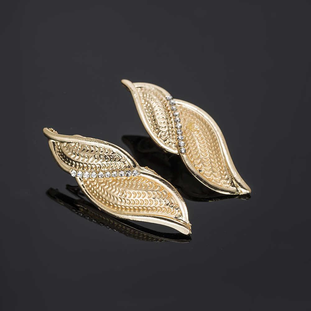 BAUS turecki zestawy biżuterii prezent dla nowożeńców mody Dubai złoty kolor biżuteria ustaw nigeryjczyk ślub naszyjnik kolczyki hurtowych projekt
