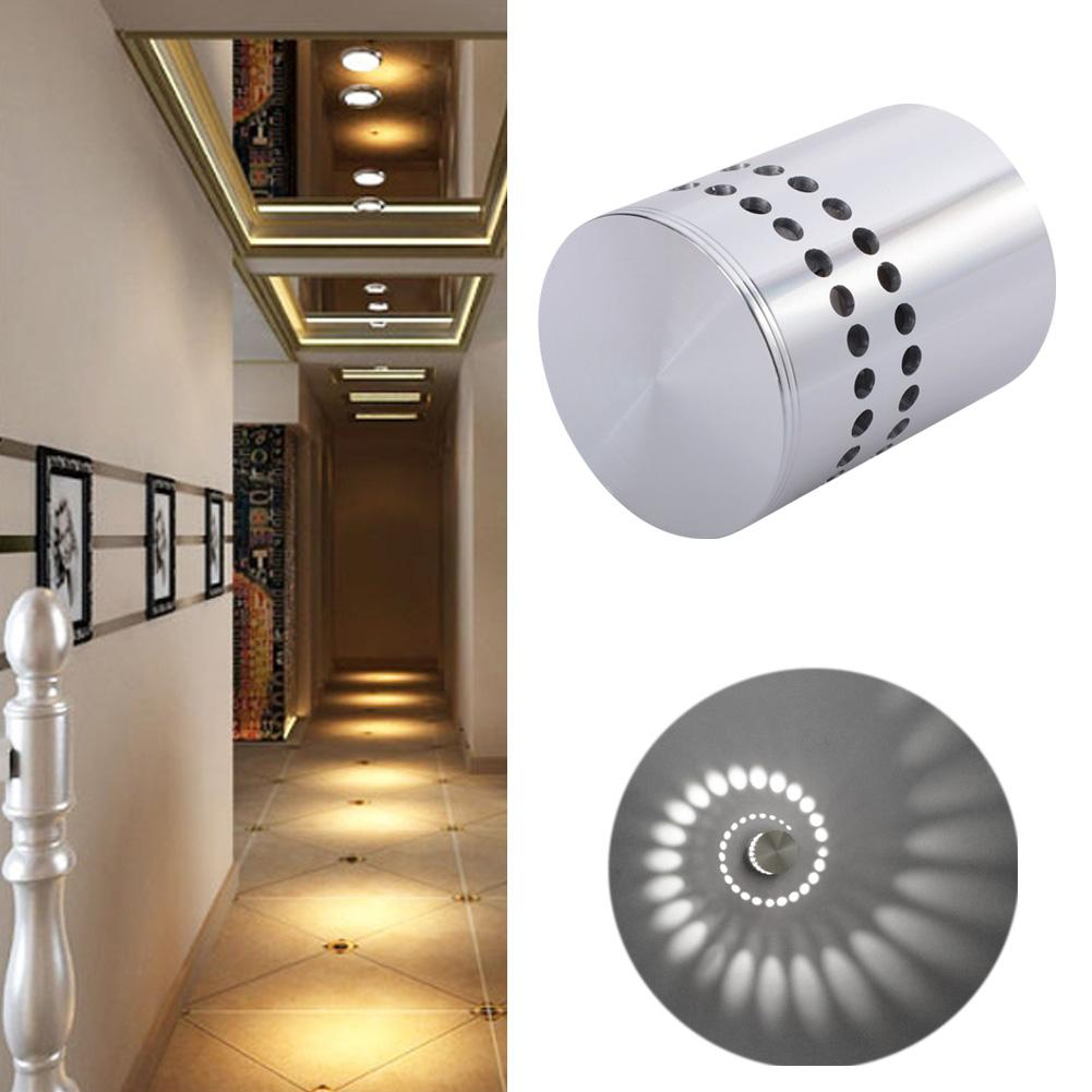 Indoor decorative led ceiling lights wall lamps china led ceiling - 1x 3w Spiral Led Wall Sconce Ceiling Light Walkway Bedroom Porch Hotel Bulb Ktv Nightclub Hotel