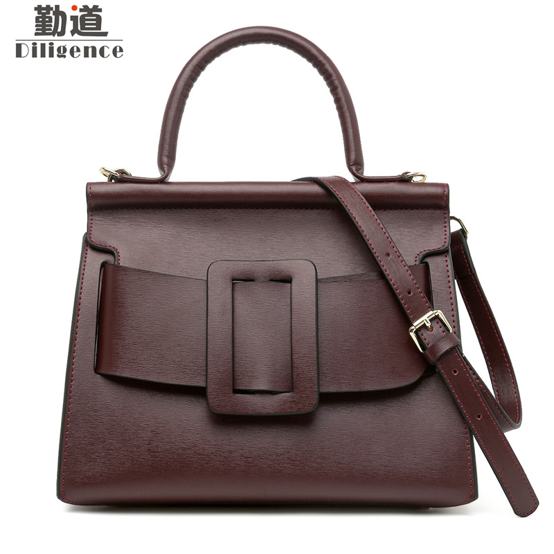 Genuine Cowhide Leather Handbags Fashion Famous Luxury Brands Designer Style Shoulder Bags Large Capacity Bag soar cowhide genuine leather bag designer handbags high quality women shoulder bags famous brands big size tote casual luxury
