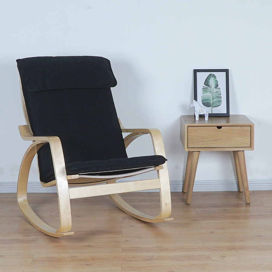 Comfortable Relax Wood Adult Rocking Chair Armchair Living Room Furniture Modern Bentwood Lounge Recliner Rocker Glider Chair Chaise Lounge Aliexpress
