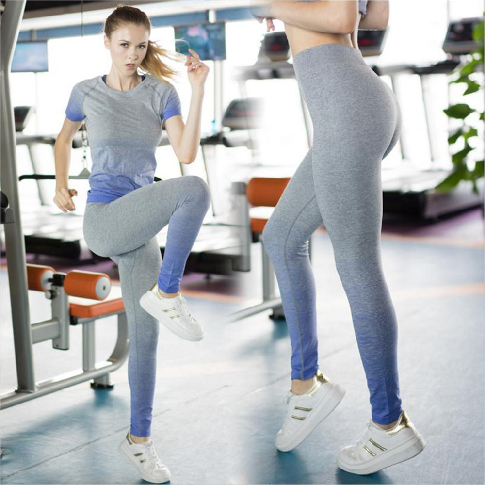 Women Yoga Exercise Tight Pants Sport Gym Running Form-fitting Pants Quick Dry Flexible Sportswear Women Breathable New Gym Pant