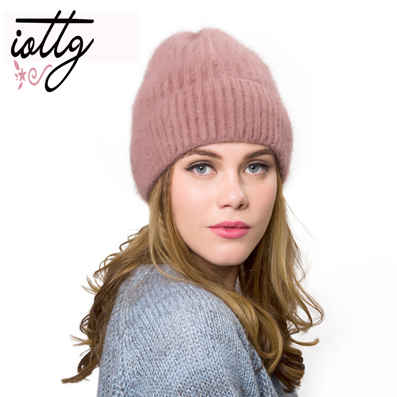 IOTTG 2018 New Women's Hats Female Wool Casual Autumn Winter Brand Double Layer Thick Knitted Girls   Skullies     Beanies