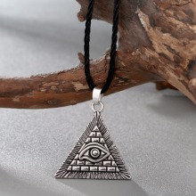 Necklace Geometric Charm Egypt Pyramid Pendant Men Collier All-Seeing Evil-Eye Male Triangle