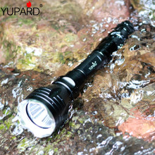 YUPARD מתחת למים led פנס לפיד XM L2 T6 ledwhite צהוב אור עמיד למים צלילה 100m + 18650 סוללה נטענת + מטען