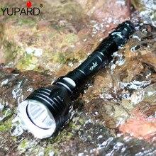 Yupard underwater led lanterna tocha XM L2 t6 ledwhite luz amarela à prova dwaterproof água mergulho 100m + 18650 bateria recarregável carregador