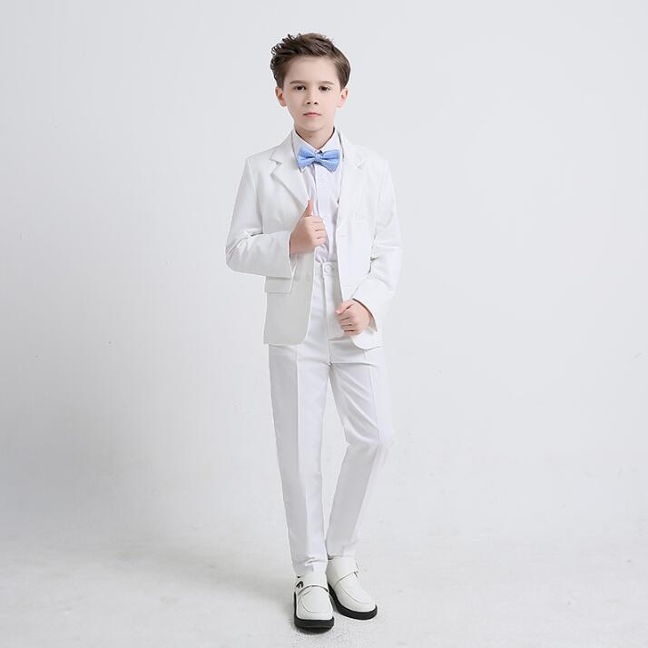 Children's Day Clothes Men Suits Set Designs Homme Terno Stage Costumes Singers Child Jacket Men Blazer Dance Star Style White