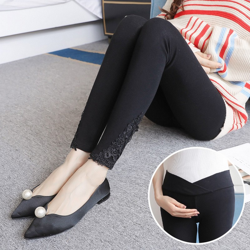 Elastic Low Waist Belly Maternity Legging Skinny Pencil Leggings For Pregnant Women Spring Autumn Pregnancy Pants Out Wear