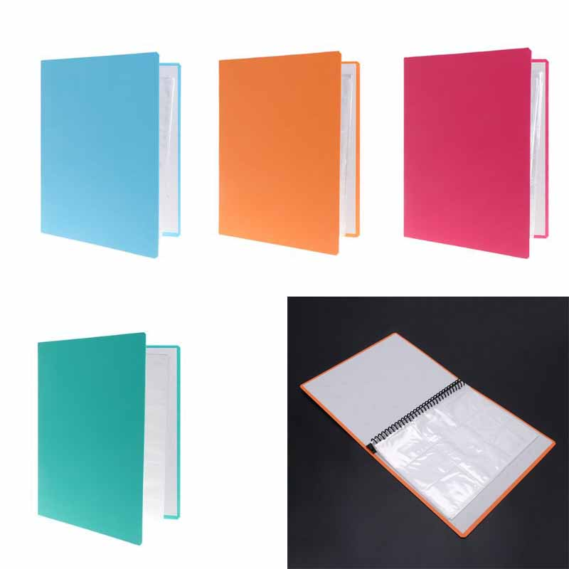 Removable 9-Pocket Blank Binder Silver Series Page Protector For Standard Size Game Cards