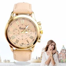 Luxury Girl Women Ladies Dress Watches Leather Band Analog Quartz Wrist Watch