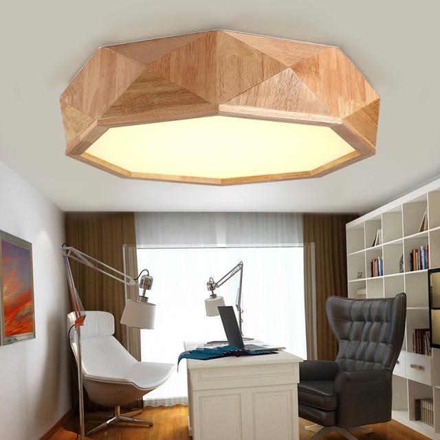 US $165.0 |Log massivholz Japanischen stil decke lampe holz schlafzimmer  lampe holz lampe kreative persönlichkeit wohnzimmer decke lichter MZ83 in  Log ...