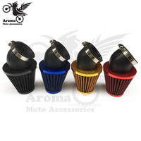 4 colors available red gold black blue dirt pit bike motocross moto air cleaner universal 35MM 42MM 48MM motorcycle air filter