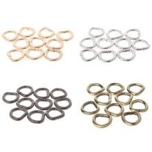 10Pcs Metal D Ring Buckle Handbag Leather Bag Purse Strap Belt Web Clasp 12mm