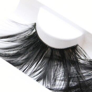 YOKPN Black Exaggerated Feather False Eyelashes Eye Lashes Makeup Tips Stage Art Exaggeration Long Lashes Fake Eyelash 1 Pair