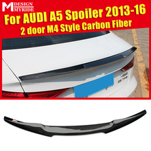 M4 Styling Carbon Fiber Auto Racing Rear trunk Wing Lip Spoiler For Audi A5 A5Q Coupe 2-doors Tail Trunk Lid Boot Lip Wing 13-16