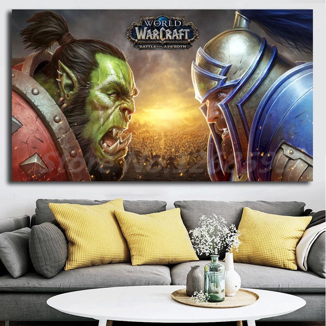 e74e9c99a World of Warcrafts Battle For Azeroth Wall Art Canvas Posters Prints  Painting Wall Pictures For Office Living Room Home Decor