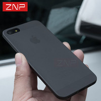 ZNP Matte Transparent Ultra-thin Back Full Case For iPhone 7 6 PC case Protective Cover for Apple iPhone 6 6S plus 5 5S SE case