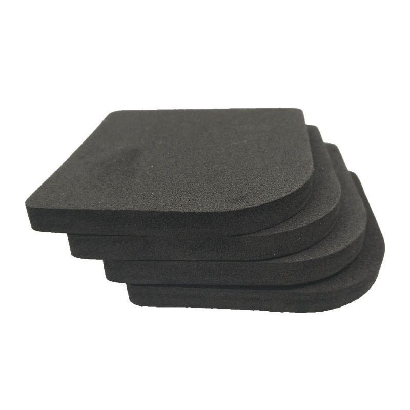 4PCS/Set Black Rubber Leg Anti-Vibration Non-Slip Mat Refrigerator Chair Desk Feet Mats Washing Machine Shock Absorbing Pads